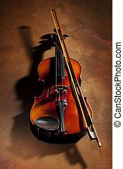 viool, schaduw
