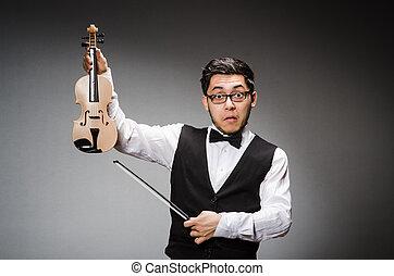 viool speler, fiddle, gekke