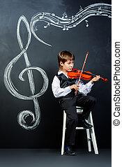 viool, struming