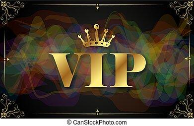 vip, デザイン, カード