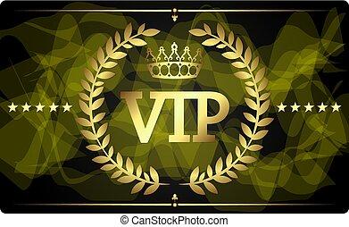 vip, デザイン, 金のカード
