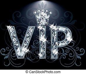 vip, ベクトル, ダイヤモンド, カード