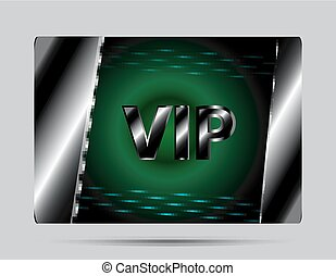 vip, ベクトル, 緑, カード, 背景