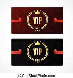 vip, ベクトル, set., カード