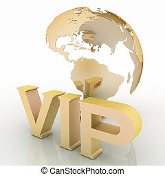 VIP abbreviation with a globe