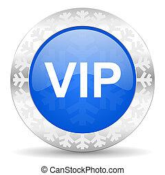 vip blue icon, christmas button