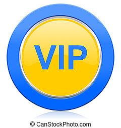 vip blue yellow icon