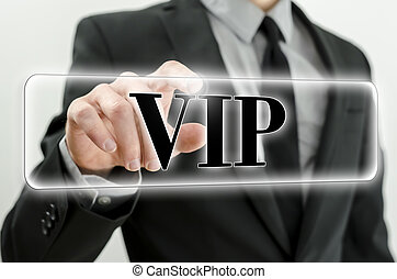 VIP button on virtual screen.