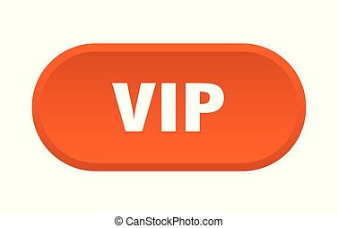 vip button. vip rounded orange sign. vip