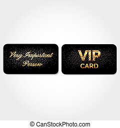 VIP Card Decorated with Leather