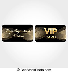 VIP Card with gold abstract pattern