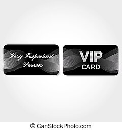 VIP Card with silver abstract pattern
