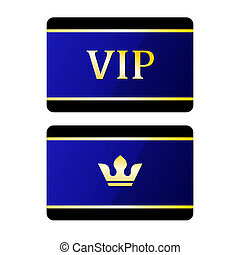 Vip cards with crown