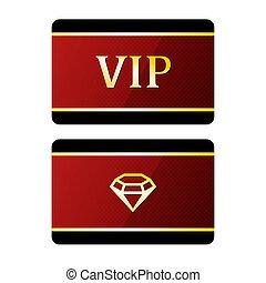 Vip cards with diamond