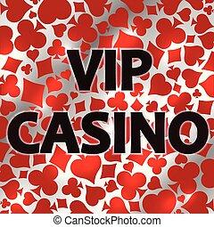 Vip Casino poker background, vector illustration