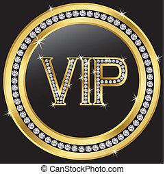 vip, com, diamantes