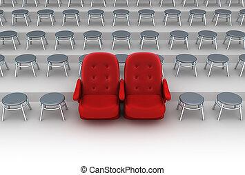 vip, concept, sièges