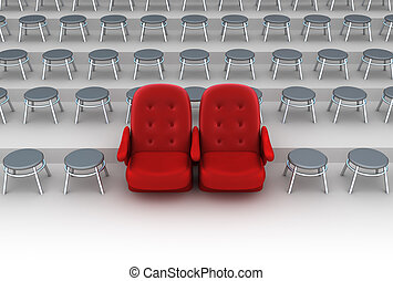 vip, concepto, asientos
