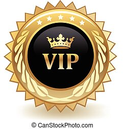VIP gold badge.