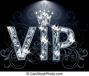 VIP Diamond card, vector