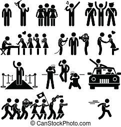 vip, estrella, celebridad, ídolo, pictogram