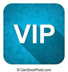 vip flat icon, christmas button