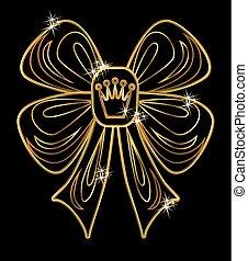 VIP golden card, vector