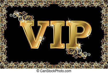 VIP golden card, vector illustratio