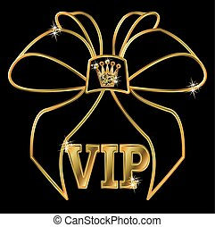 VIP golden invitation card, vector