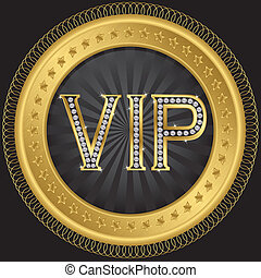 Vip golden label, vector