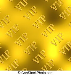 VIP. Golden seamless background.