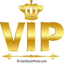 Vip golden vector symbol isolated on white