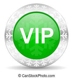 vip green icon, christmas button