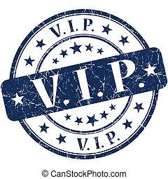 vip grunge round blue stamp