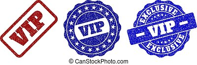 VIP Grunge Stamp Seals - VIP grunge stamp seals in red and...