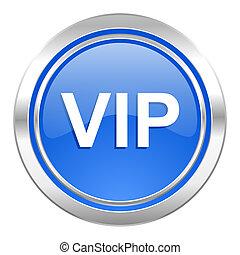 vip icon, blue button