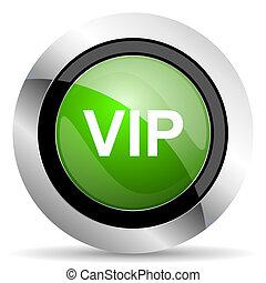 vip icon, green button