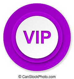 vip icon, violet button
