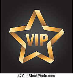 vip star icon over black background vector illustration