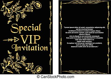 VIP Invitation Card Template
