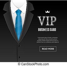 Vip Invitation with Tuxedo Tie. Vector