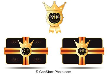 VIP Label Card With Crown - vip card card with crown badge