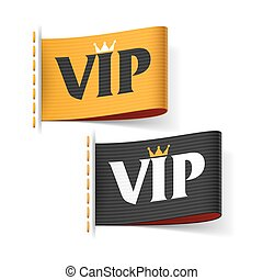 VIP labels illustration