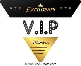 vip member badge theme vector art illustration