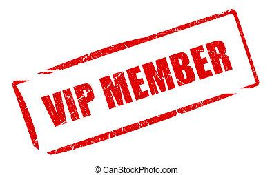 Vip member stamp illustration