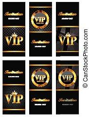 VIP Members Card Set Vector Illustration EPS10