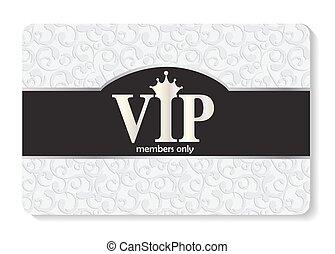 VIP Members Card Vector Illustration EPS10