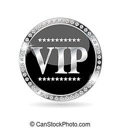 VIP Members Label Vector Illustration EPS10