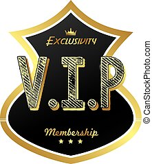 vip, miembro, insignia