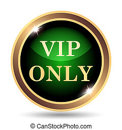 VIP only icon. Internet button on white background.